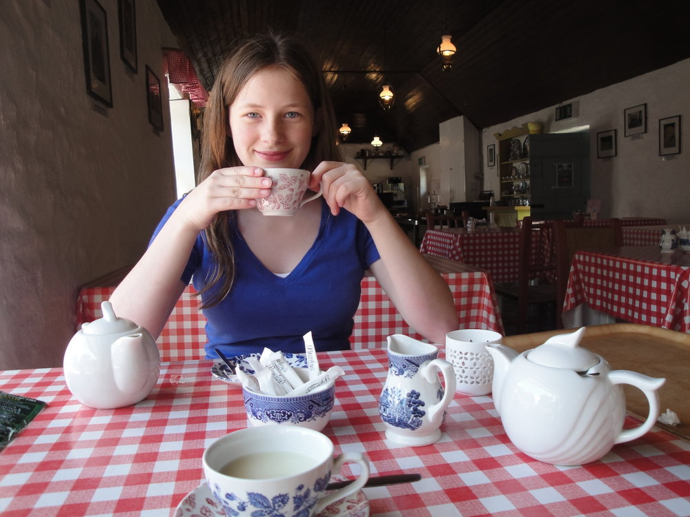 Katherine York having tea.jpg