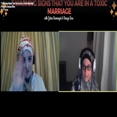 """Screen shot of my hugely successful first Facebook Live webinar interview hosted by Suraya Sara (The Mindful Soul Academy) in November 2017. We had over 5000K views of our conversation """" 5 warning signs you are in a toxic marriage""""."""
