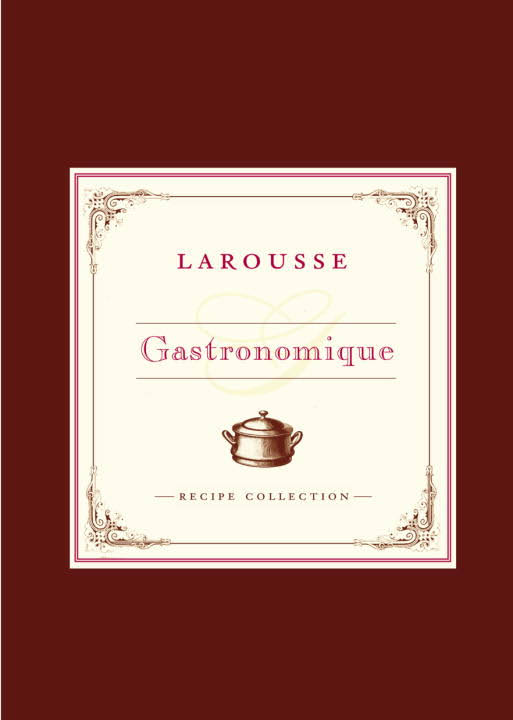 Larousse Gastronomique - Larousse Gastronomique is an encyclopedia of gastronomy. The majority of the book is about French cuisine, and contains recipes for French dishes and cooking techniques. WikipediaOriginally published: 2001Author: Prosper MontagnéPublisher: Éditions LaroussePage count: 1,087Awards: James Beard Award for Reference and Scholarship