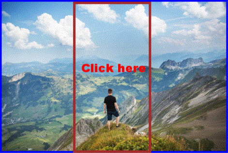 Mountain man and blue sky  Scroll small area