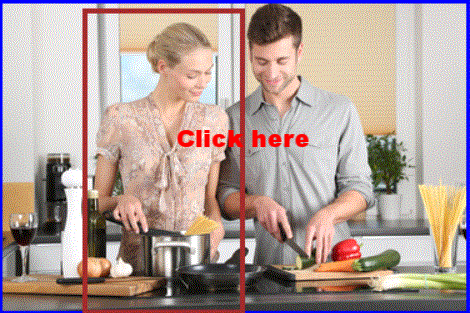 Woman in kitchen  Scroll big area