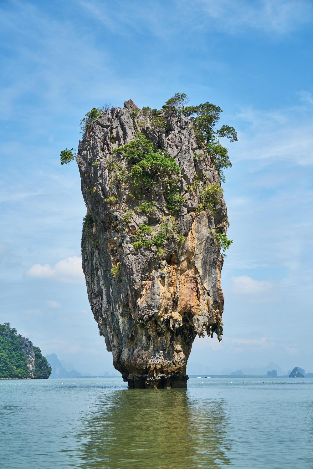 Scrolled image island in the sea