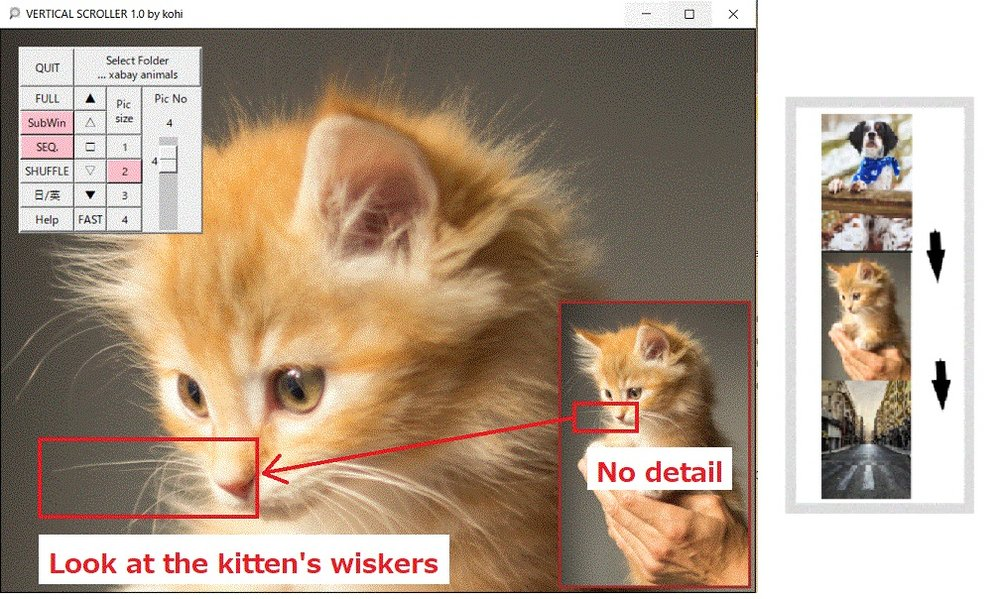 Vertical Scroller Screen example