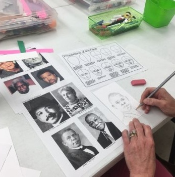 Printmaking! Bicentennial Portraits of famous Alabamanians (2018)