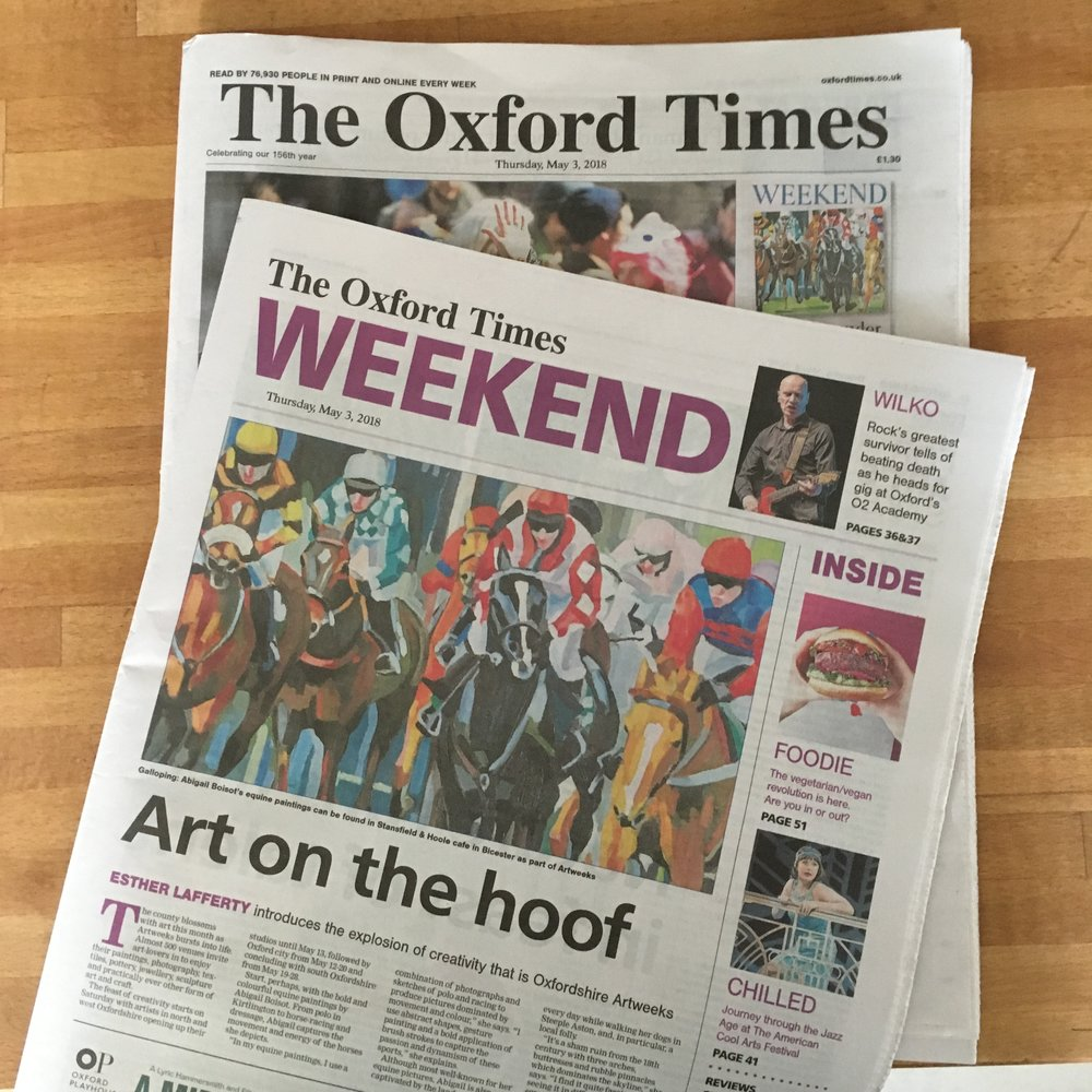 Art on the hoof - Esther Lafferty introduces the explosion of creativity that is Oxfordshire ArtweeksPublished on Thursday, May 3, 2018