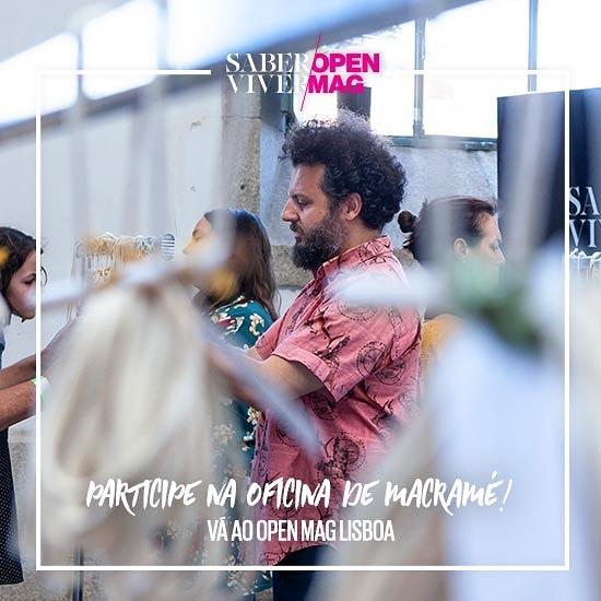 A terceira edição - 2ª em Lisboa - do OpenMag da revista Saber Viver começa já amanhã. Será, como já nos habituaram, um fim de semana intensivo de workshops, conversas, desporto e muitas coisas mais. A não perder. O Barbudo vai lá estar para coordenar um projeto muito especial. Apareçam. . . . #barbudoaborrecido #boredbeardedman #macrame #weaving #tecelagem #saberviver #openmag #pavilhaocarloslopes #makersmovement #makersgonnamake #wandelust