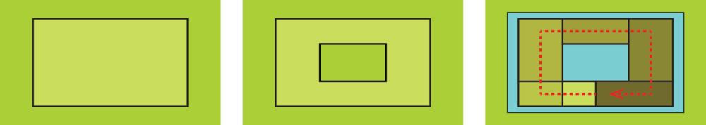 Concept  | 1: Bouwvlak 2: Patio 3: Daklandschap