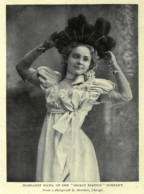 Actress and playwright, Margaret Mayo in 1898.