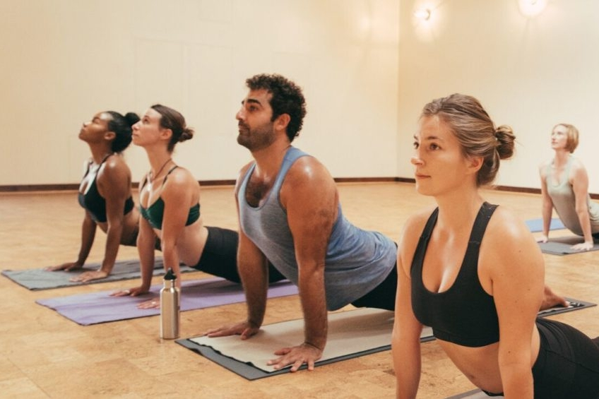 """For everyone - The truly 'advanced' is always a beginner!"" - Modo Yoga340 S La Brea Ave,Los AngelesBe guided through a hot yoga session that is structured around the 7 pillars that will follow you on and off the mat.       Source: https://los-angeles.modoyoga.com/studio/"