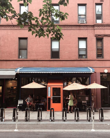 """the best garage for coffee"" - Café Gitane242 Mott St, NY 10012Offering its customers french-moroccan cuisine, this loaded menu has something for everyone, no matter the time of day.Source: Instagram"
