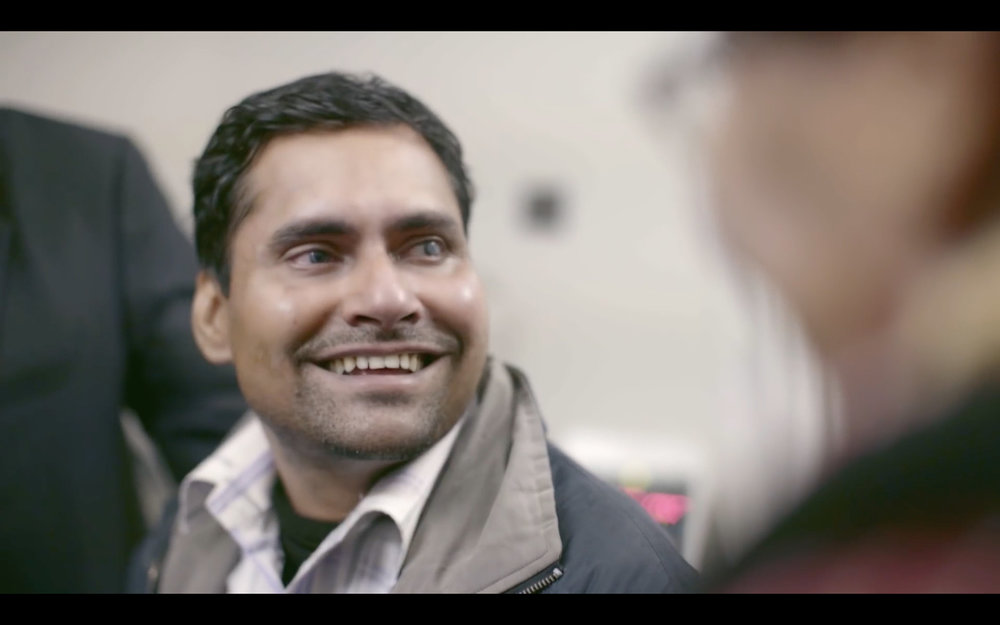 Amit regained his vision after a corneal transplant