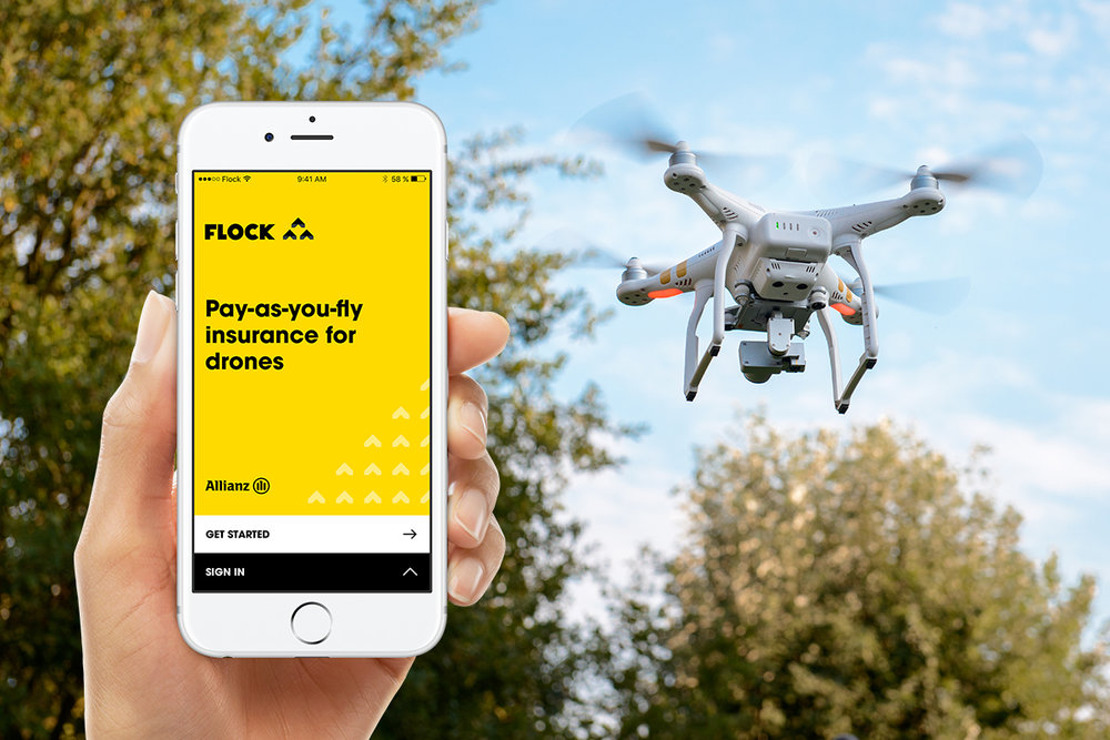 On-demand insurance for drone flights.