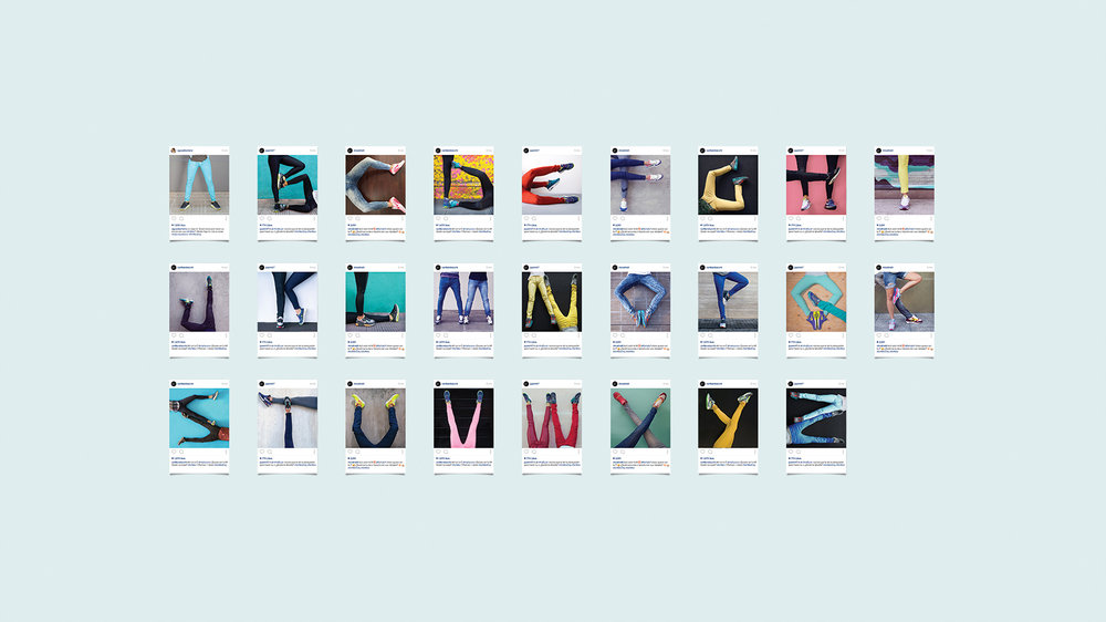 To celebrate Air Max Day, we put this language into words with an alphabet created by people's legs