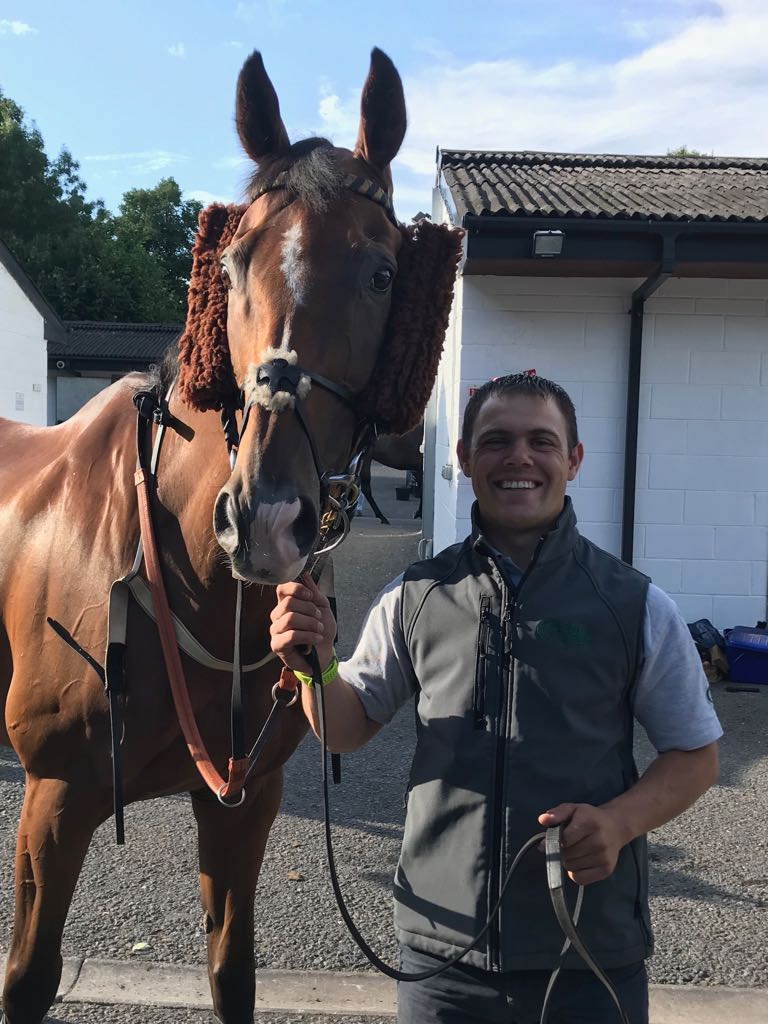 Danny and Croco at Worcester races