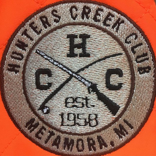 What do you guys think of our new logo? Shown here on the Carhartt Upland Field Vests. #hunterscreekclub #carhartt #pheasanthunting #blazeorange