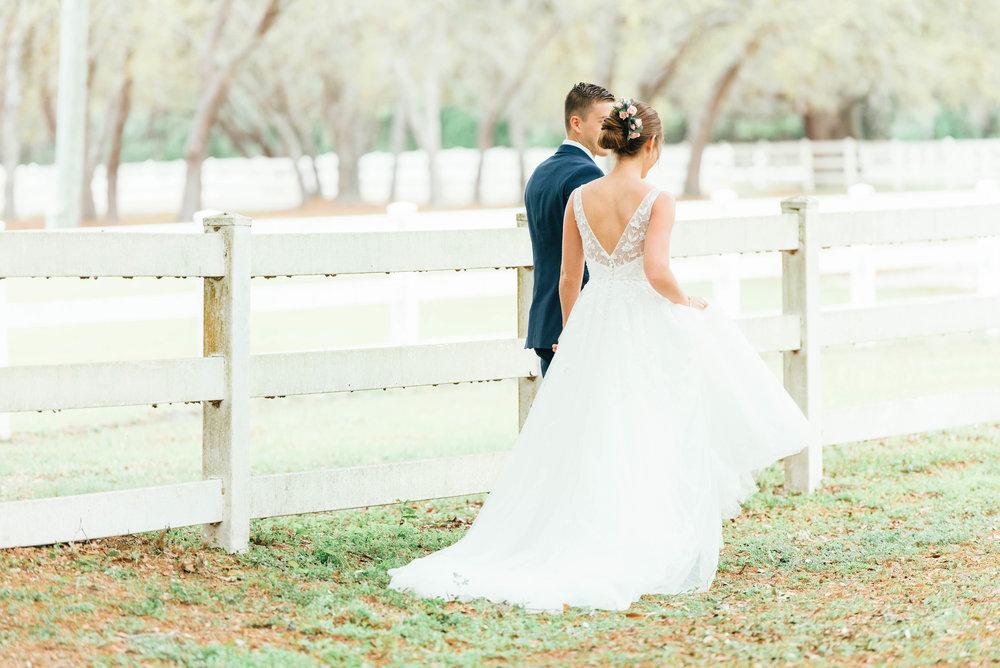 Romantic Blue Barn Wedding Venue