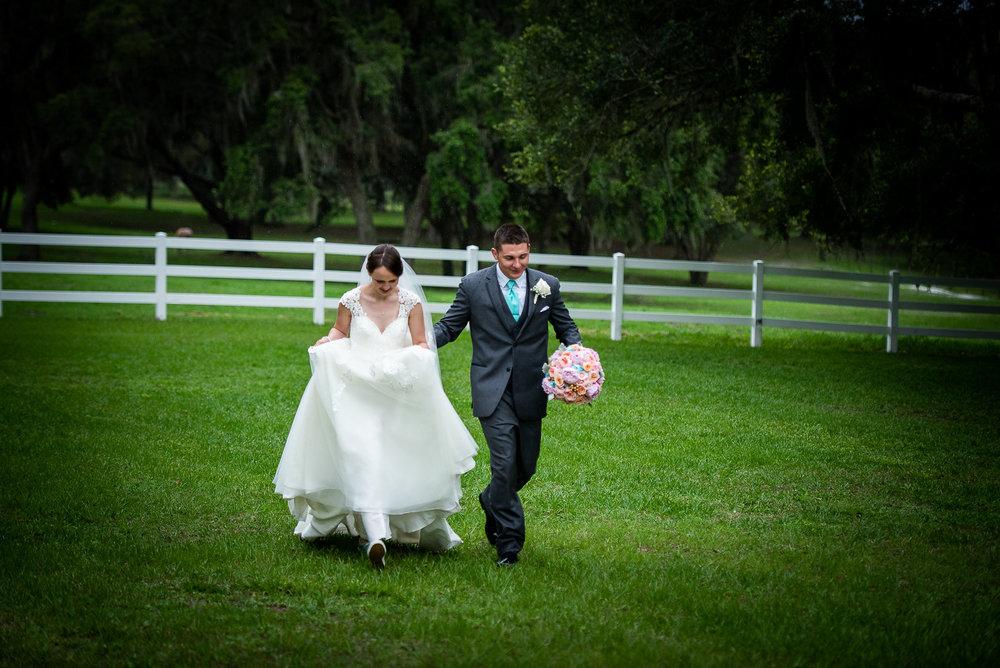 bride and groom at Stonebridge wedding & events
