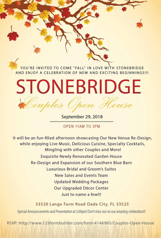 Stonebridge Fall Open House