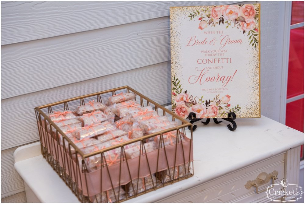 Pink themed wedding decor