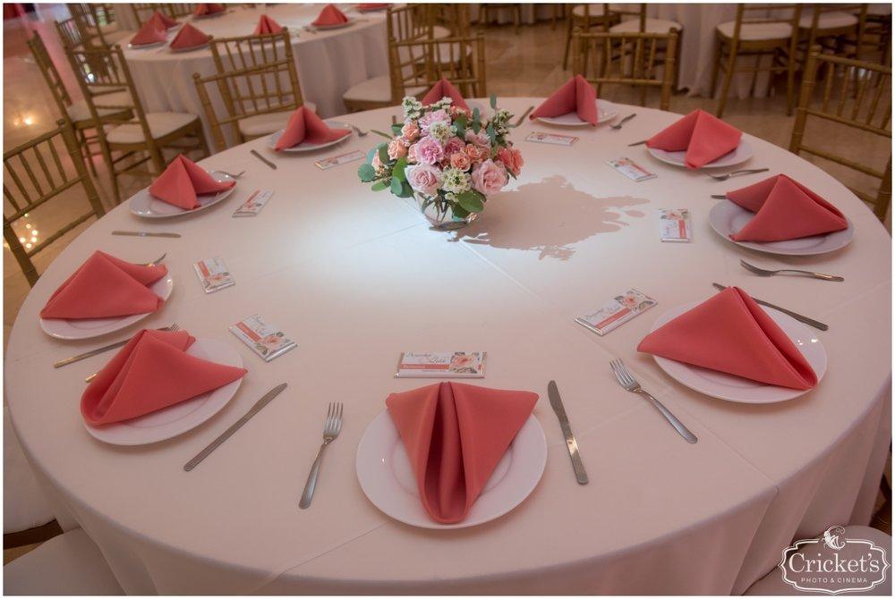 Pink Wedding table set