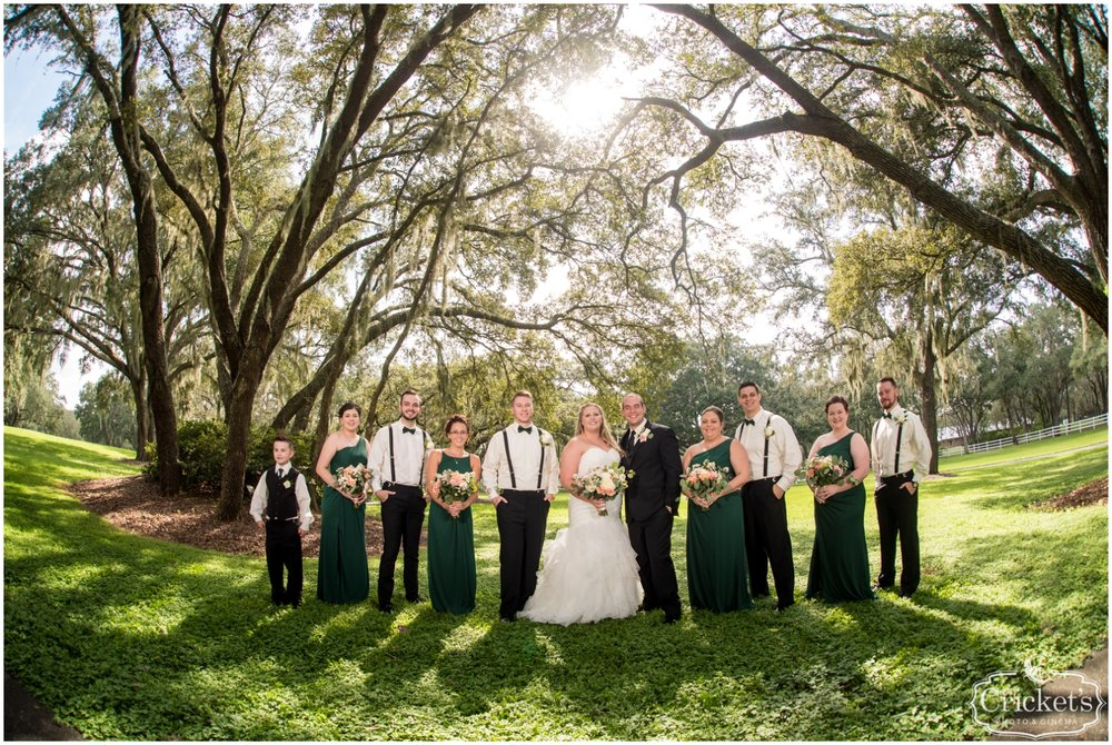 bridal party at the Florida Wedding