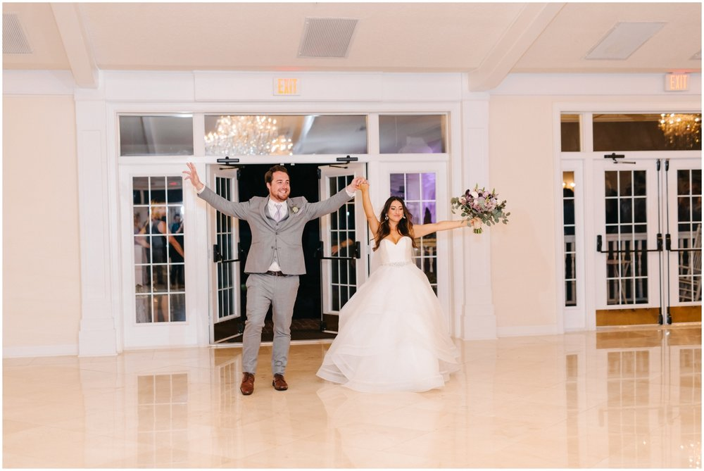 Bride and groom enter the Reception