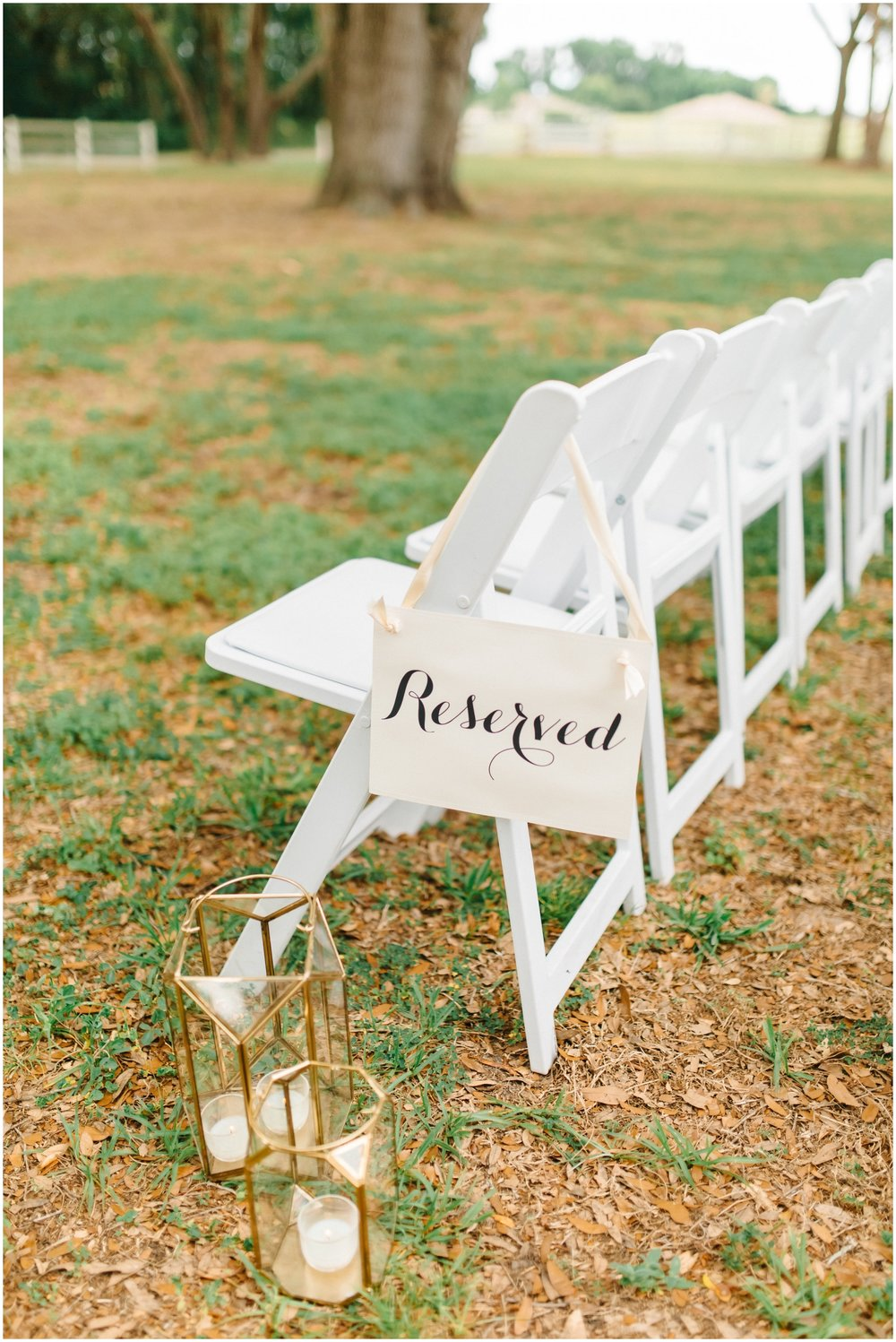 Reserved seating sign