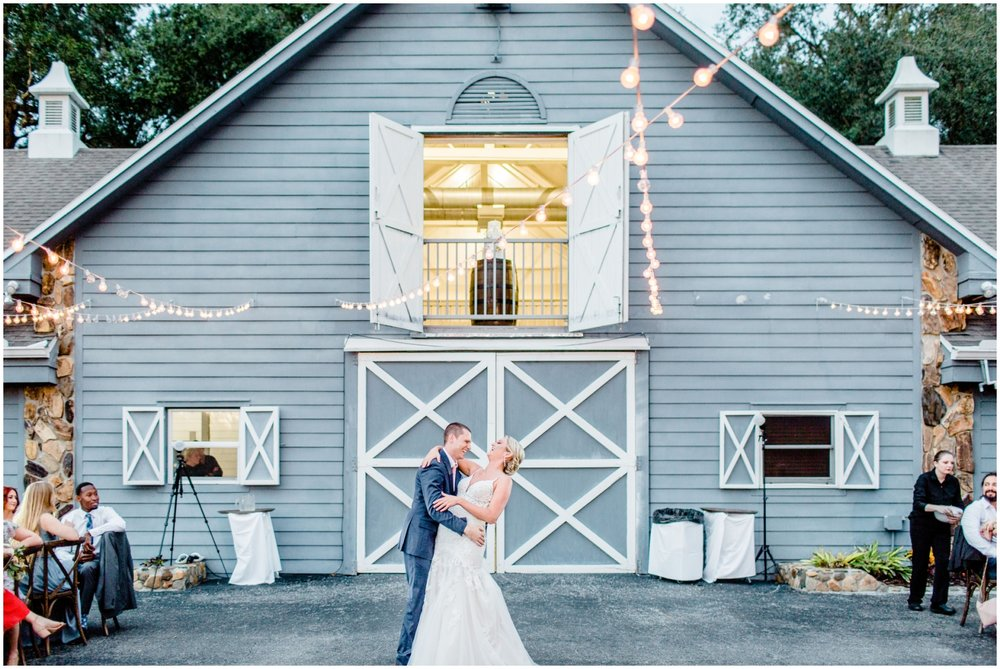 bride and groom at The Lange Farm