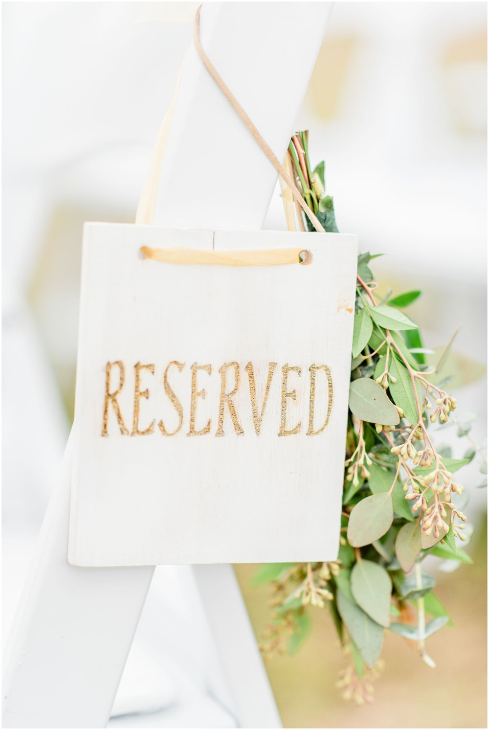Reserved seating decor
