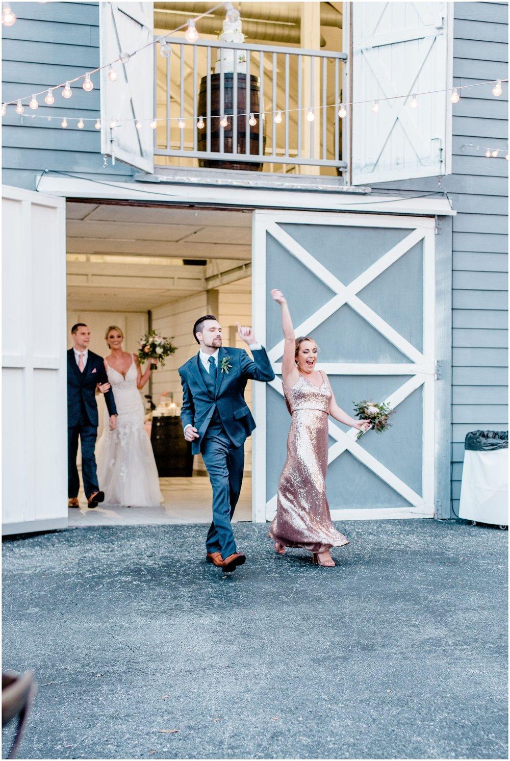 Bridesmaid and groom