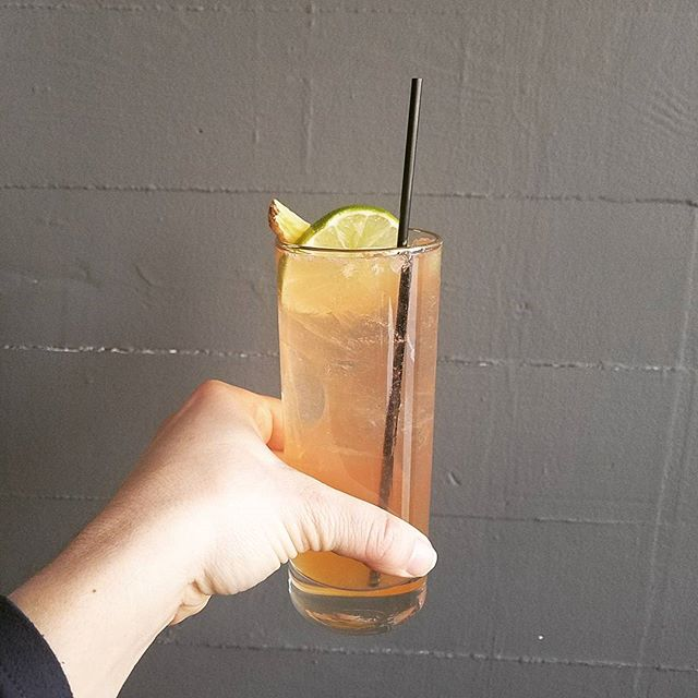 The Rum Fiddle Fiddle! Ron Matasalem Rum, Velvet Falerum, Lime, Butter & soda- light warming and refreshing perfect for these ridiculously chill. available from 5 til 7 weekdays night's. ❤🍸