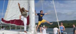 catamaran boat play