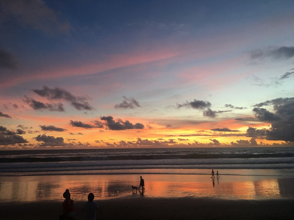 I took this photo of one of my favorite Balinese Sunsets on Seminyak Beach.