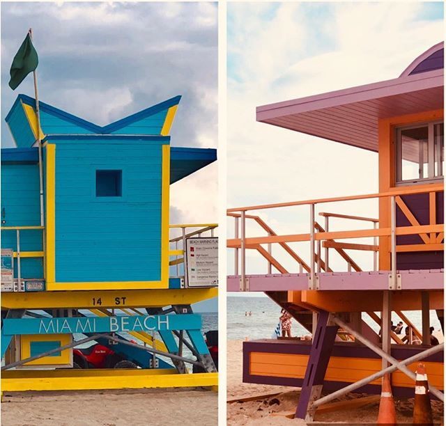 Miami South Beach lifeguard houses are so cute
