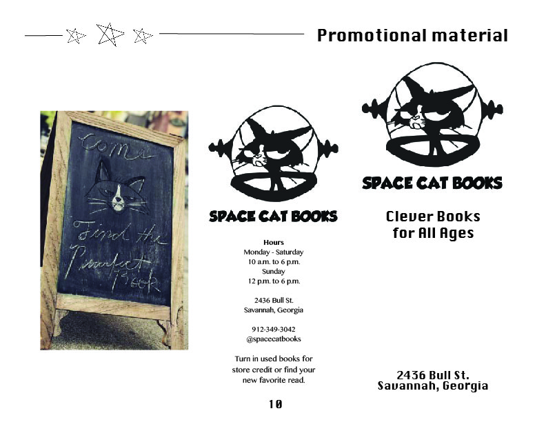 Brochure for Space Cat Books , Promotional Writing