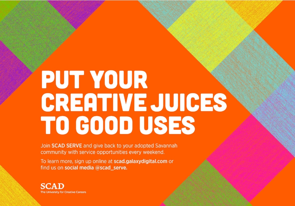 SCAD SERVE bus poster , Savannah College of Art and Design