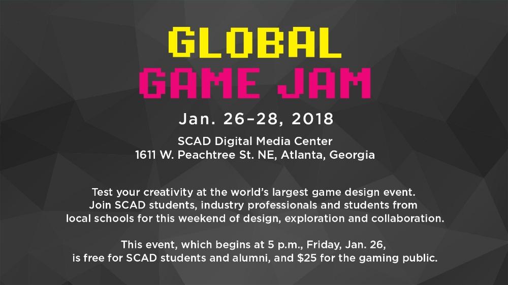 Global Game Jam awareness slide , Savannah College of Art and Design