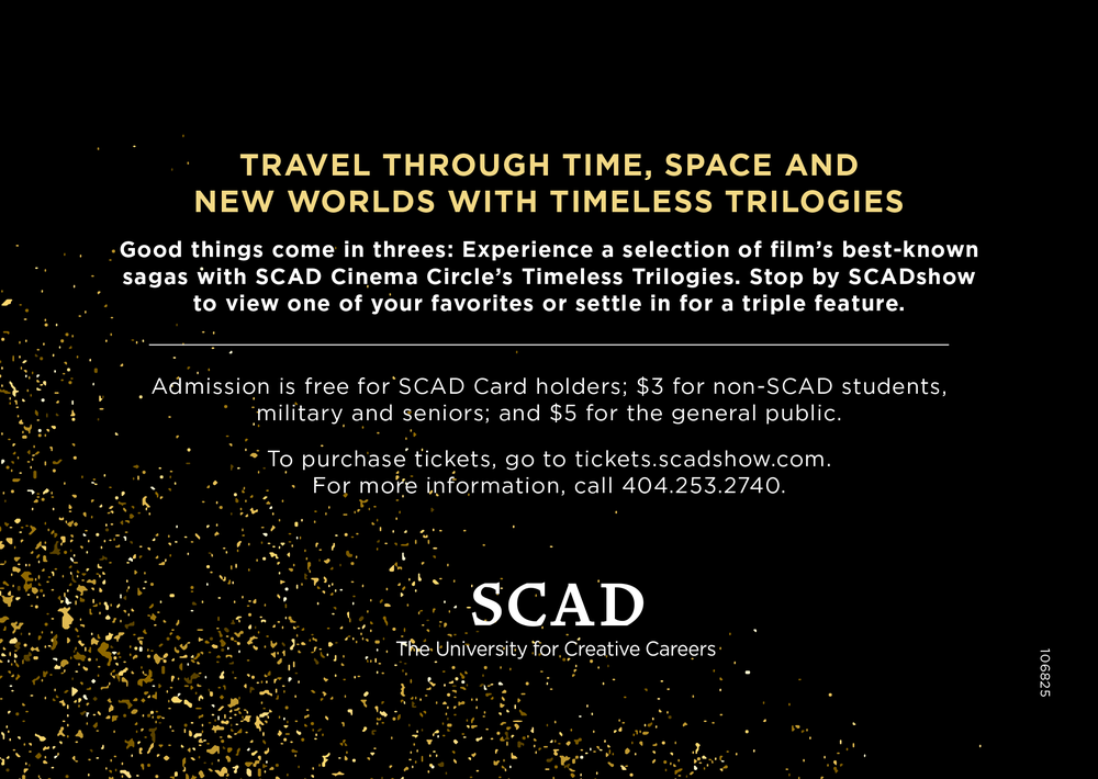 Cinema gallery card back , Savannah College of Art and Design