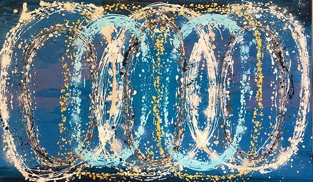 • 🎨 Acrílica s/ tela 🖌 1.50 x 0.90m 💍 Título: Ciclos 🔹 Encomenda para presente de casamento! 🔹 • • • ______________________________________________________  #art #expressionism #abstractart #contemporarypainting #artecontemporanea #artsy #coloring #cor #brazilianart #juliastecca #juliasteccaart