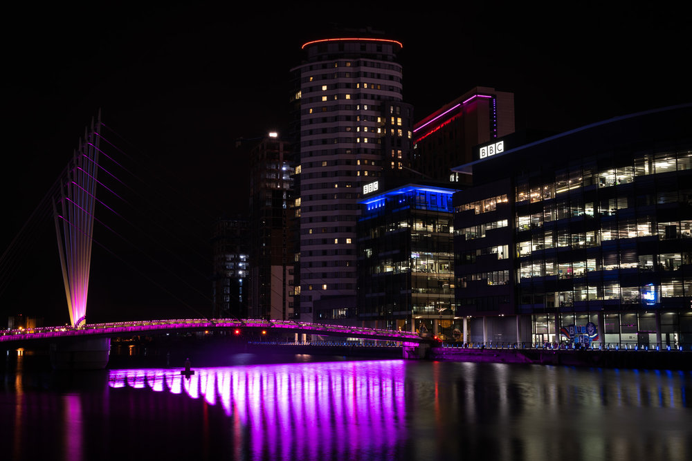 Media City Manchester at Night