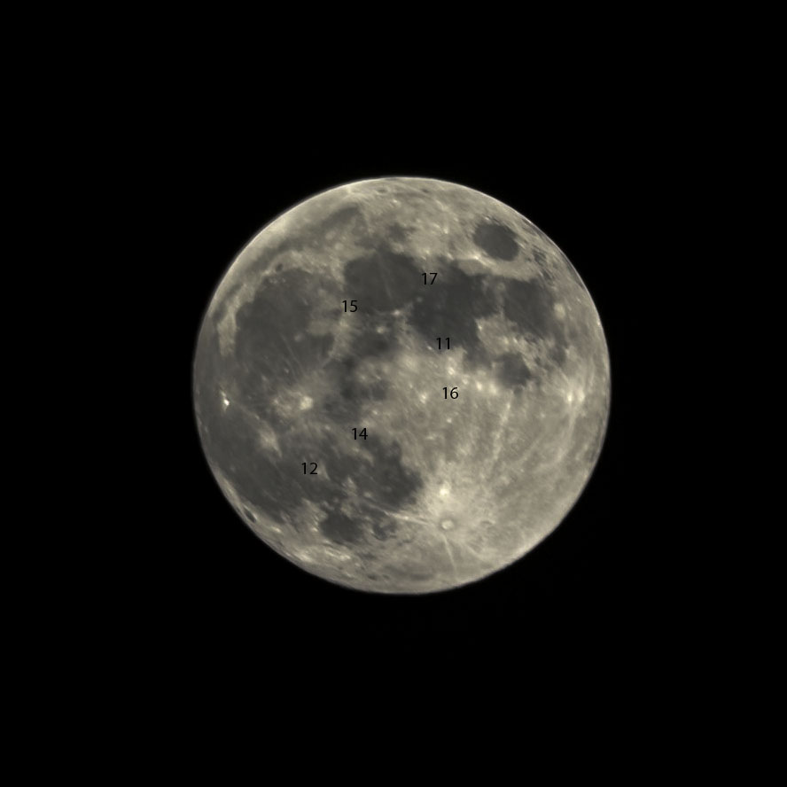 My second photo of the Moon that I was willing to share with friends. I have to admit, pretty embarassing but an important step in learning. I also marked the landing sites of the Apollo missions.