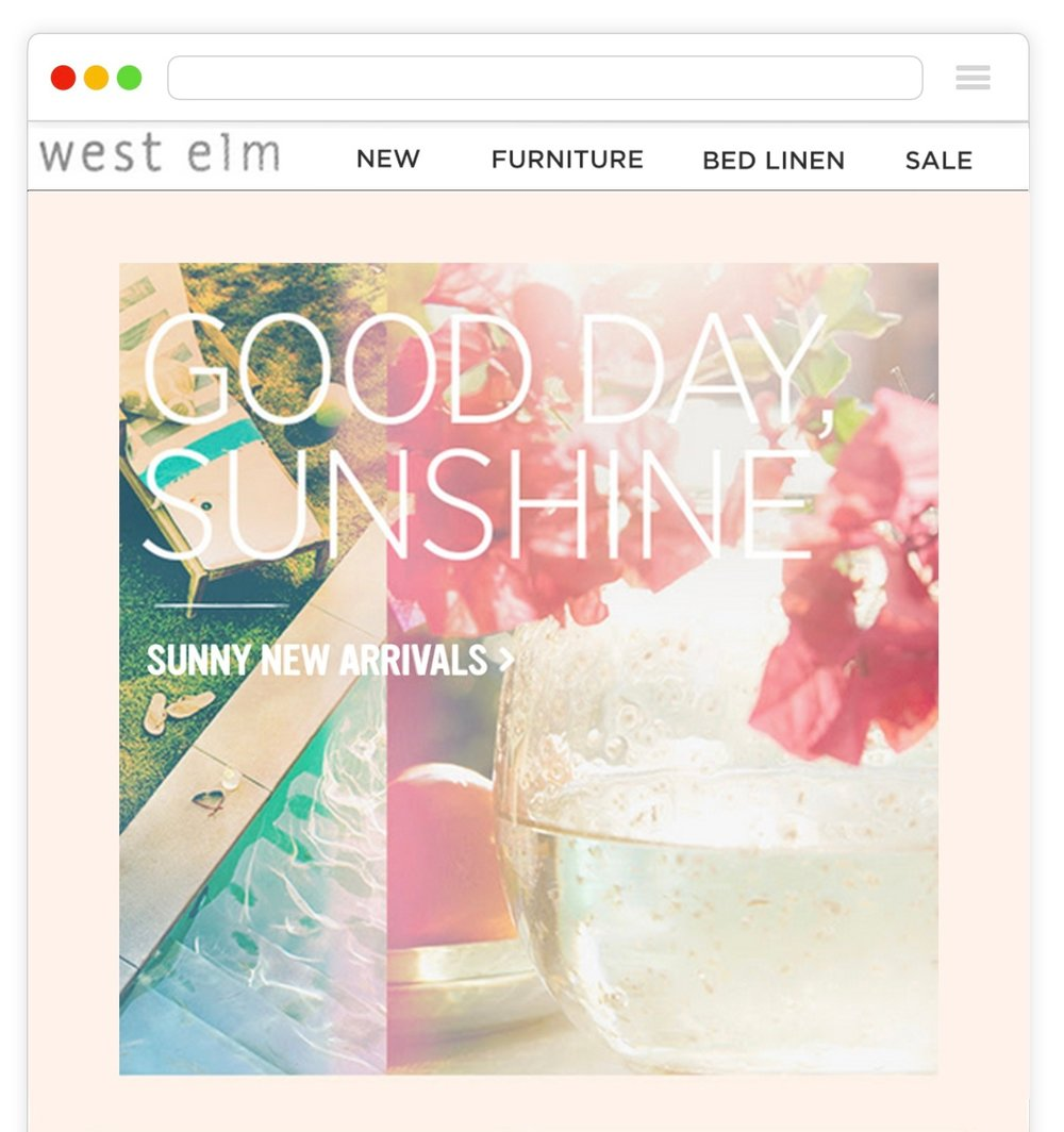 West Elm   Marketing Emails & Landing Pages  [  MORE  ]