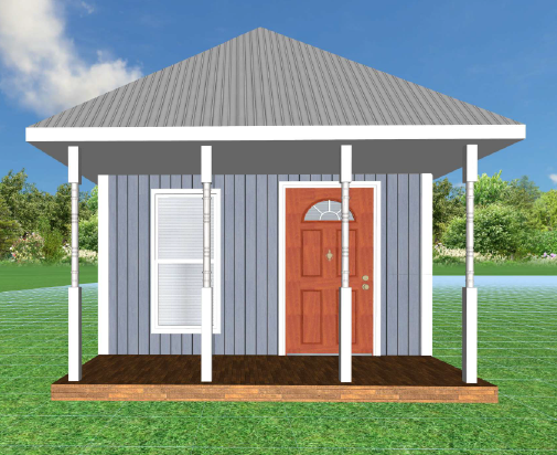 A model of our future sleeping shed!