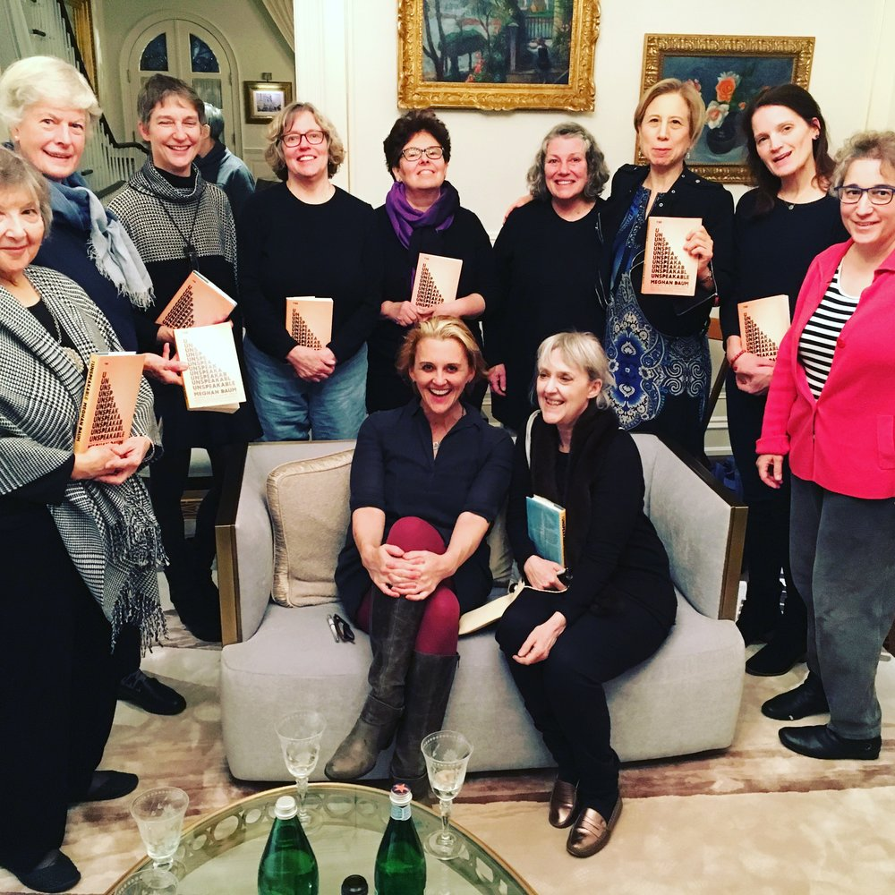 Meghan Daum at her Pop-Up Book Group for THE UNSPEAKABLE