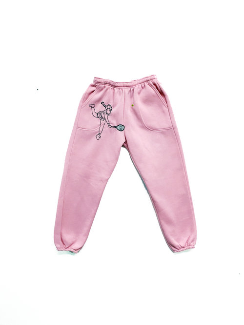 JPW3   Pink Grunt embroidered sweat pants  $500.00