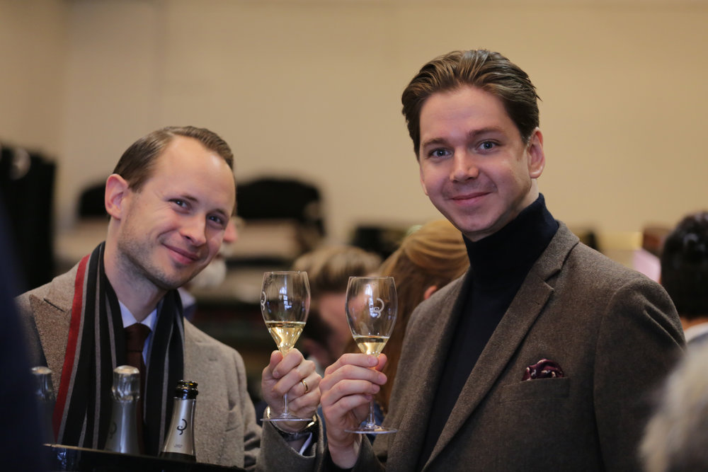 The elegant guests Eric Langenskiöld and Robert Ström.