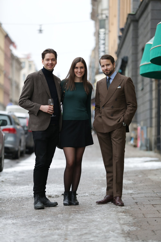 Robert Ström, Marie Mellgrim and Erik Mannby.