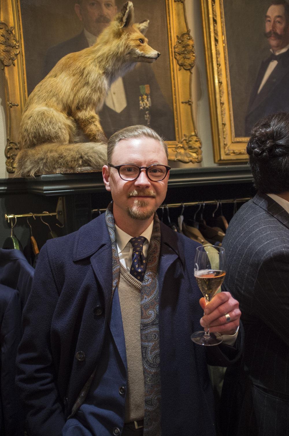 Menswear enthusiast Johan Matsols.
