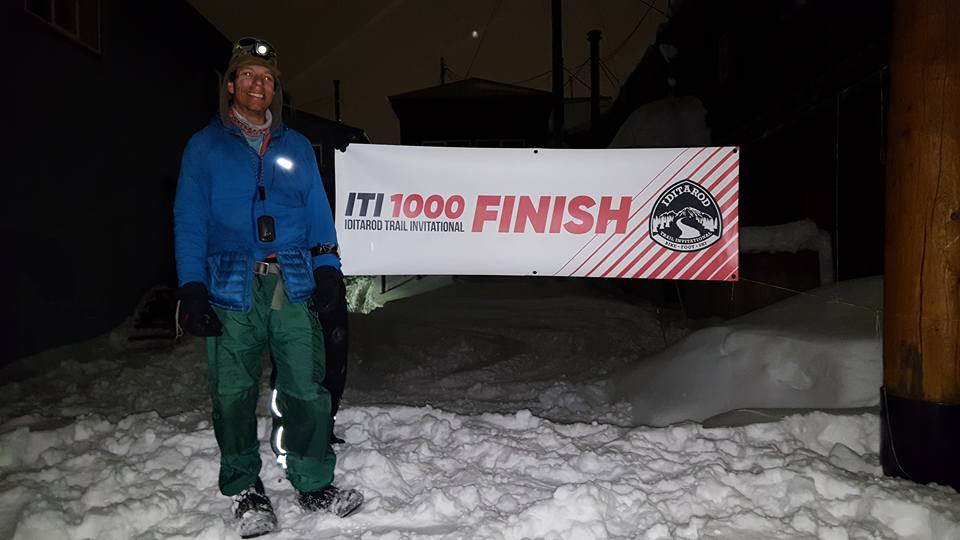 Peter Ripmaster finishing in Nome last night