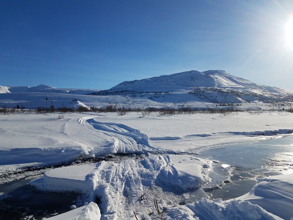 happy river crossing Iditarod Trail